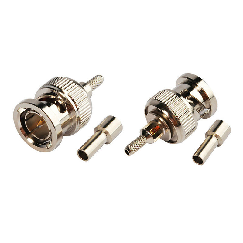 BNC Male 75Ohm Crimp 3G HD SDI Video Connector for RG179 Coaxial Cable