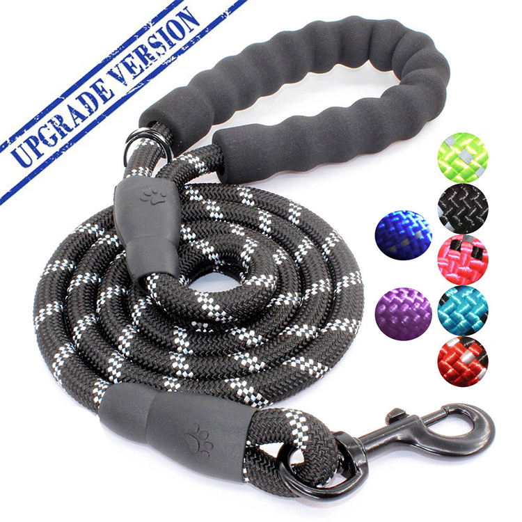 Upgraded Version Strong Climbing Reflective Nylon Rope Pet Dog Leash
