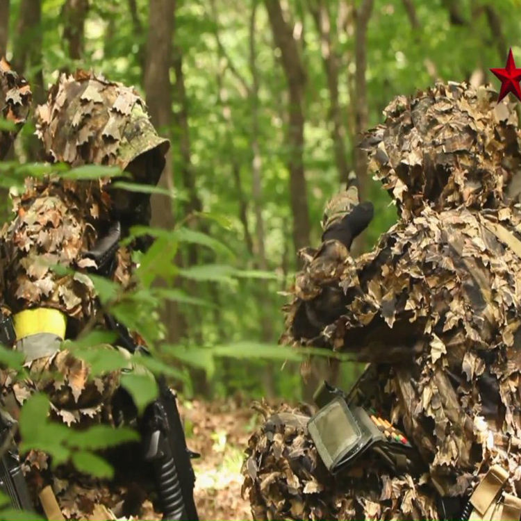 Hunting Manufactures Camo Hunting Army Sniper Military Camouflage Gilli Custom Gilly Suite 3D Leaf Ghillie Suit