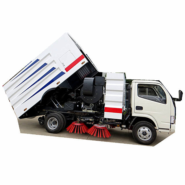 4cbm dustbin sweeper broomer road truck mounted suction sweeper