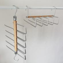 Space Saving Closet Hangers 5 Layers 2 Uses Multi Functional Pants Rack