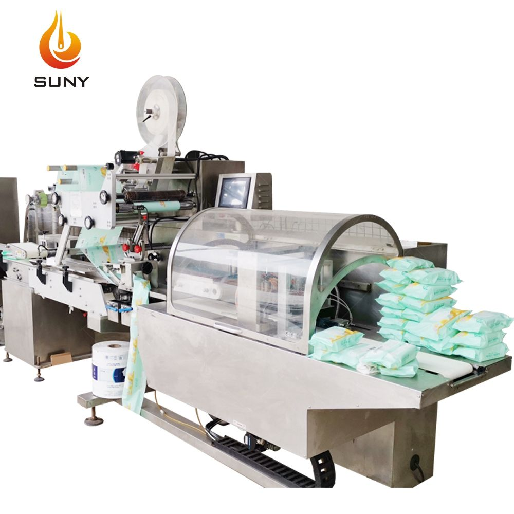 High Speed Full-Auto Wet Wipes Machine (30-120Pcs/Pack) Baby Wet Wipes Machine Kitchen Wipes Wet Tissue Paper Making Machine