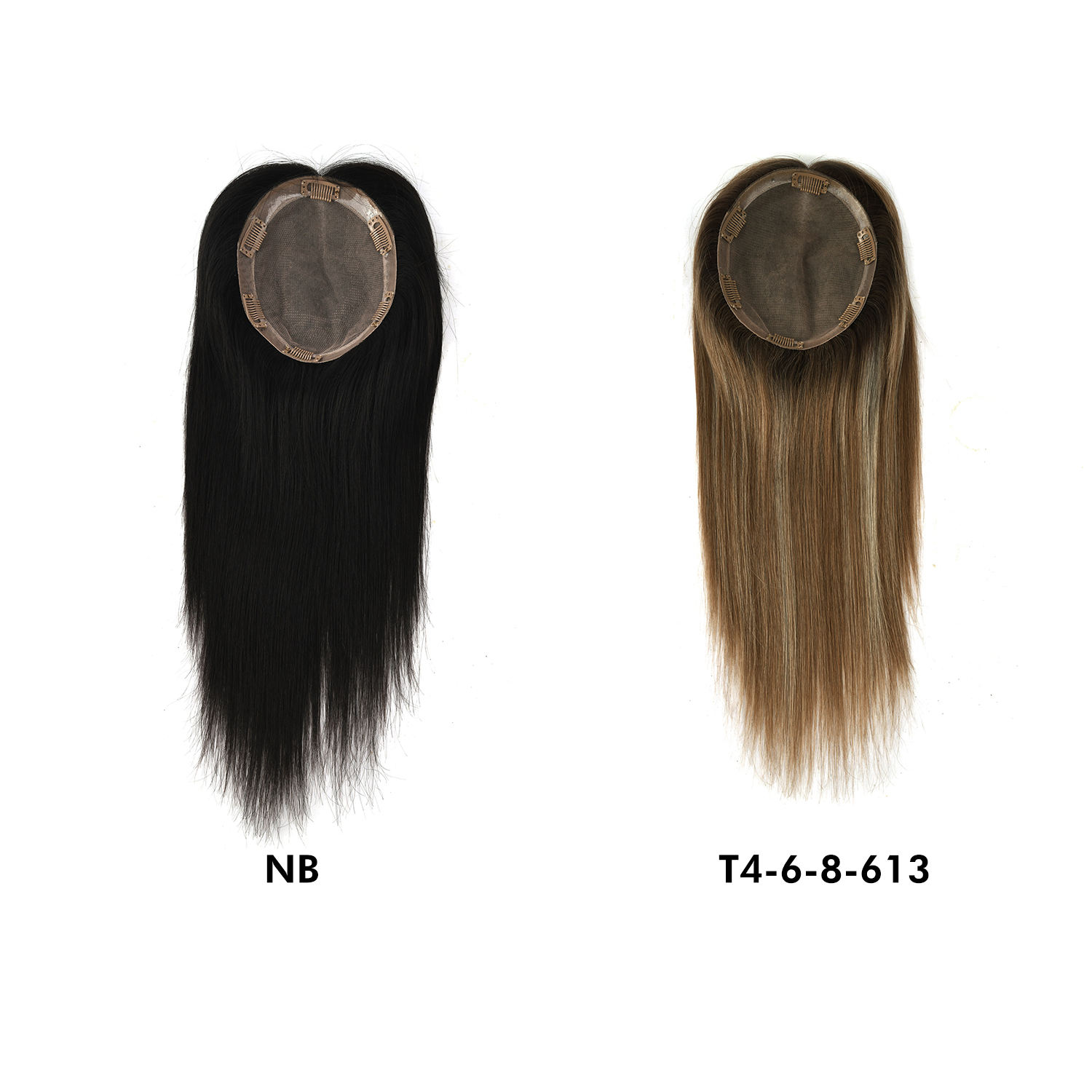 K.S WIGS Silk Base Virgin Cuticle Aligned 100% Brazilian Human Hair Toupee Women Topper Natural Hair extension