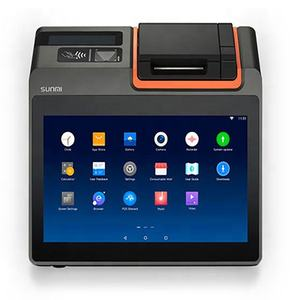 Tablet system touch screen Android SUNMI T2 mini touch pos all in one system 11.6 inch for restaurant