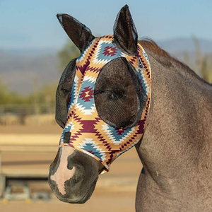 Lycra horse fly mask soft with nylon mesh protect eyes