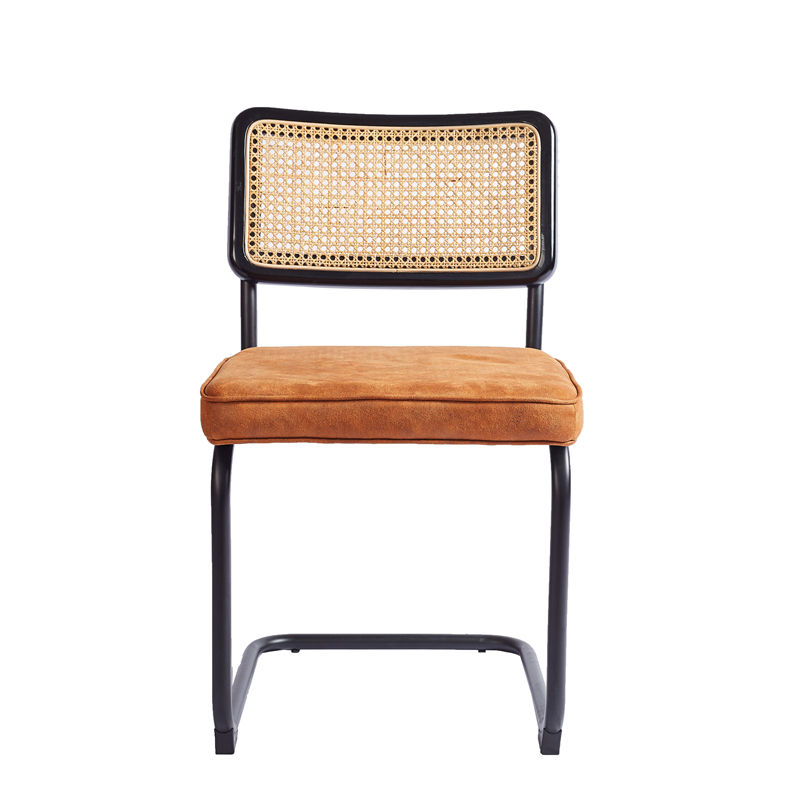 Factory Sale Furniture Cane Chair Rattan Backrest Upholstered Modern Chair Dining Wicker Dining Cesca Chairs cadeira