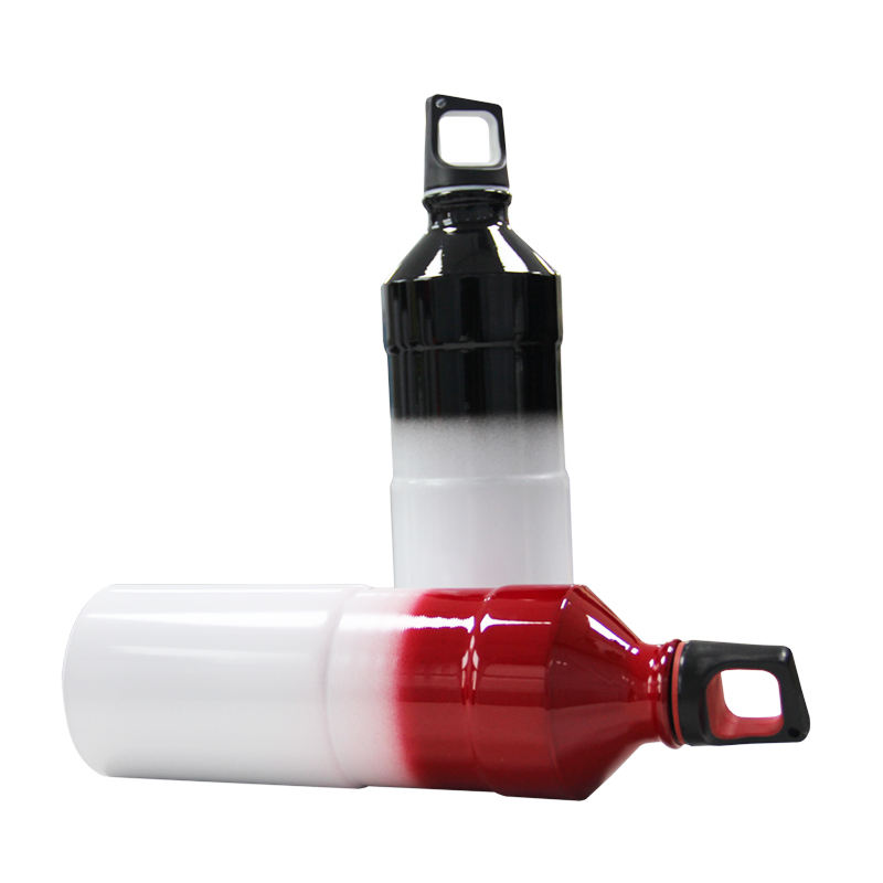 Manufactures Popular 750ML Slim Cycling Sports Portable Aluminum Water Bottle With Screw Cap
