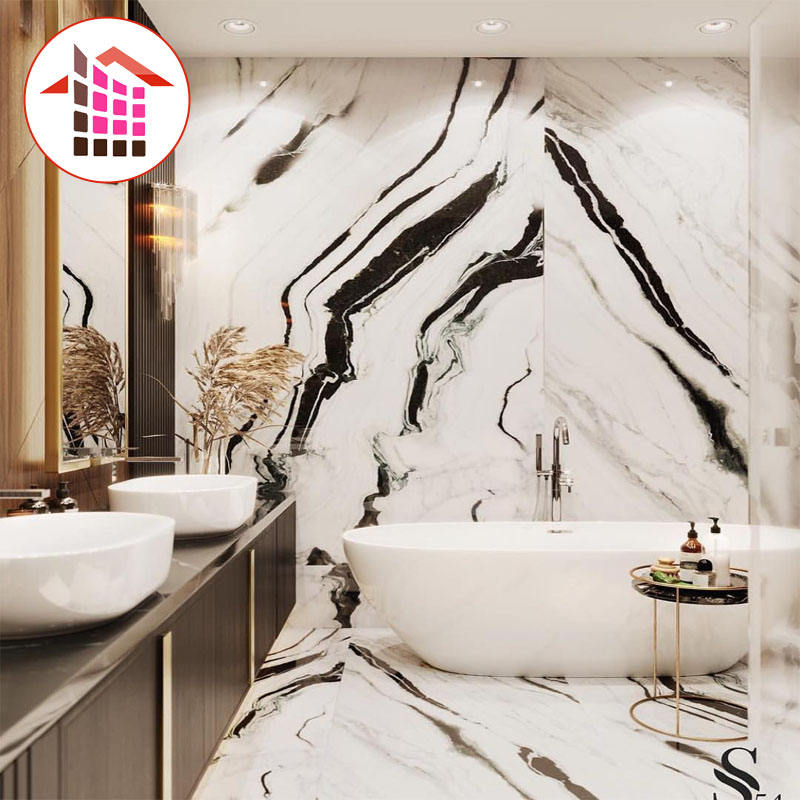 Factory Price Wholesale Interior Stone Material China Panda White Marble Tiles For Floor and Wall