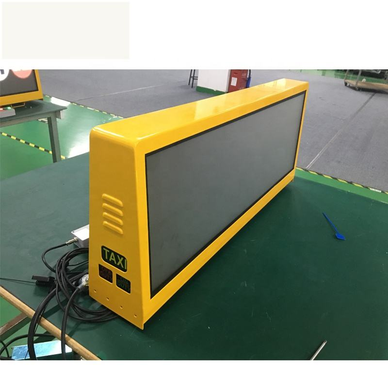 Shenzhen High brightness portable advertising video with 4G/WIFI/USB control taxi top advertising