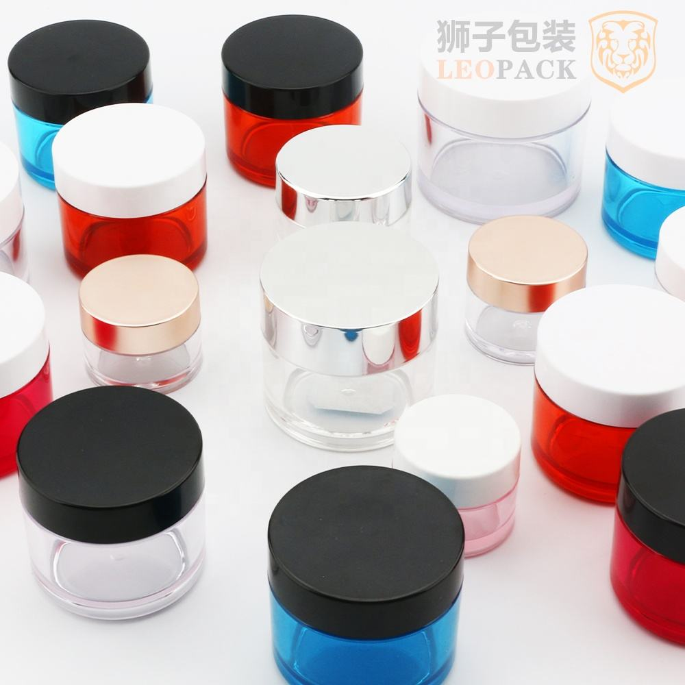 Cosmetic Jars SPOTS 1OZ 2 OZ 4OZ 8OZ Empty Petg Plastic Transparent Environmental Cosmetic Face Cream Jar