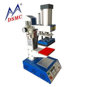 DSMC small tshirt label heat transfer Printing Clothing leather logo embossing press Machine