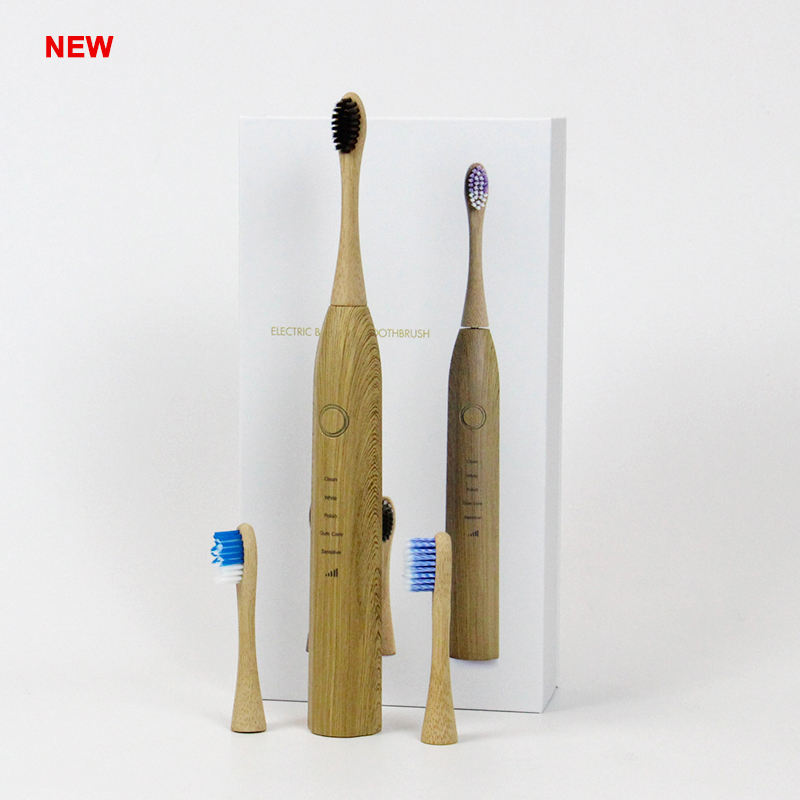 Wholesale Natural Bamboo Charcoal Eco Friendly Cheap Soft Biodegradable Bamboo Sonic Electrical Toothbrush