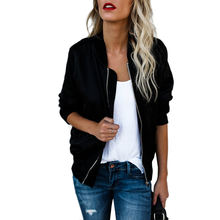 High Quality Breathable Custom Black Bomber Jackets Women With Zipper