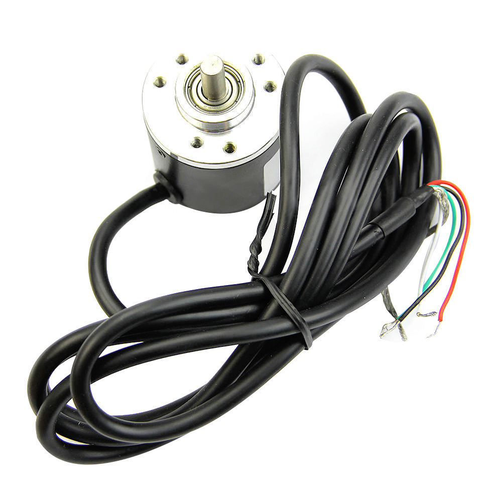 Incremental Rotary Encoder 5-24V DC Encoder 360/600 P / R Photoelectric Incremental Rotary AB Two Phases 6mm Shaft