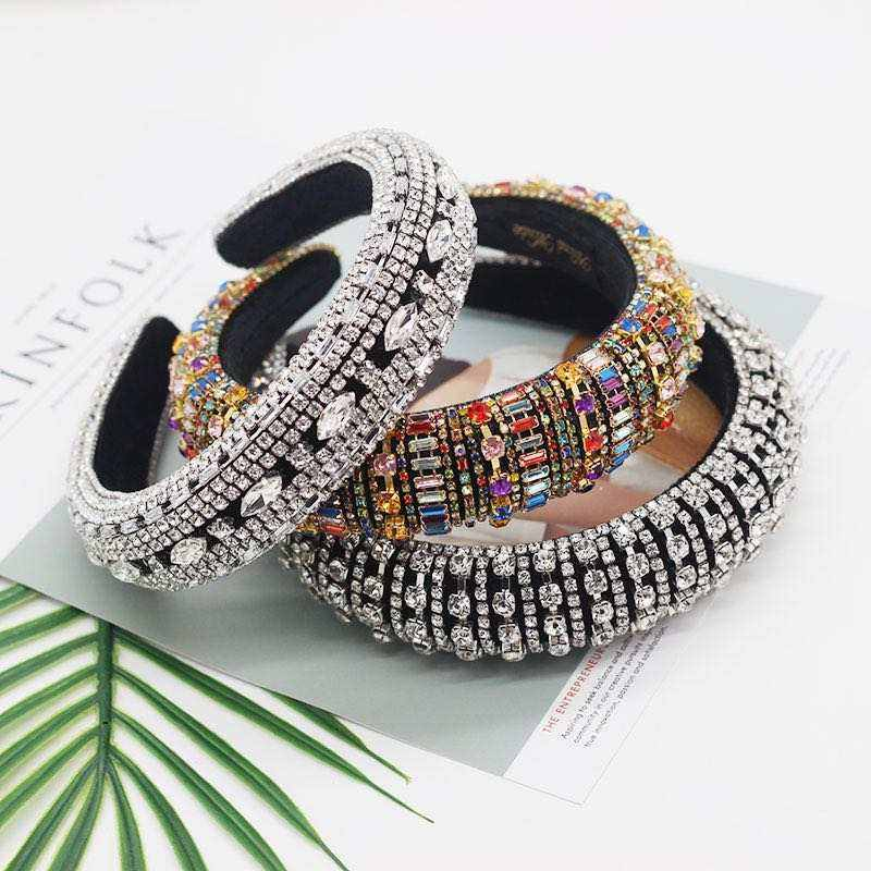 Stylish hairband women Fashion Hair Accessories Luxurious Sparkly Rhinestone diamond Headband For Women Hair hoop