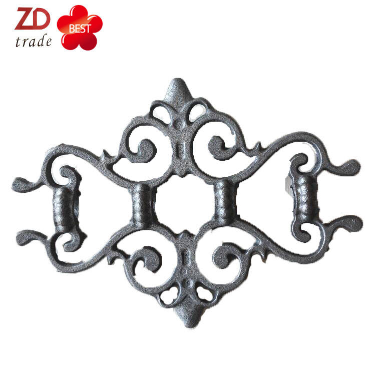 decorative Wrought Iron wood Rosettes for outdoor modern wrought iron pool fence metal fencing panels cast iron gate flowers