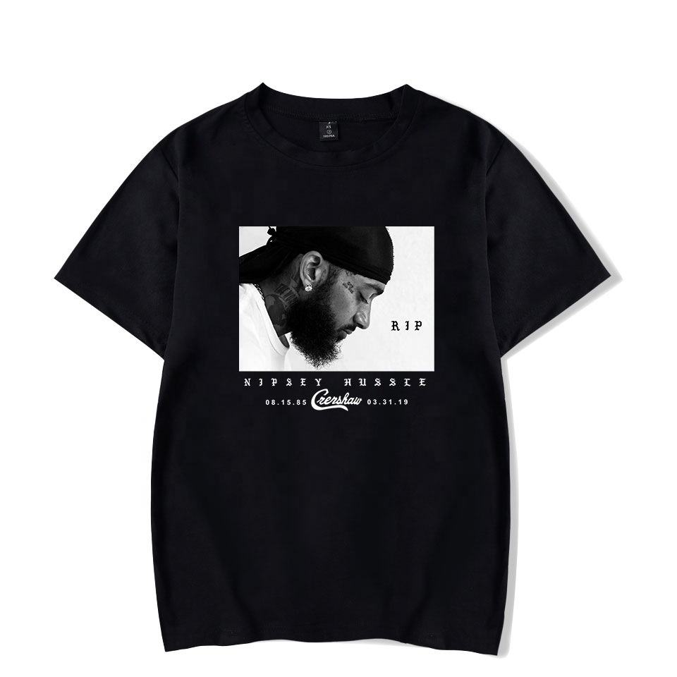 Grand Nipsey Imprimé <span class=keywords><strong>Hommes</strong></span> T-shirt Hip Hop Rappeur Nipsey Hussle Chemises <span class=keywords><strong>Hommes</strong></span> <span class=keywords><strong>Vêtements</strong></span>