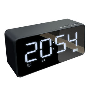Hot Sale Mini Portable Baik Nirkabel Bluetooth Speaker Bluetooth Speaker Clock Radio dengan USB