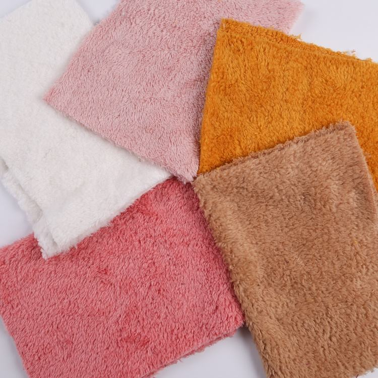 Brushed Fleece Fabric Double Brush Polyester Textiles Heavy Fleece Warp Brushed Poly Soft Velour Fabric