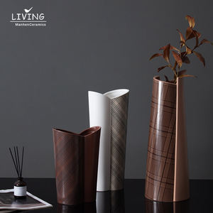 New arrival handmade decorative vase home decoration gift   nordic ceramic vases for home decor
