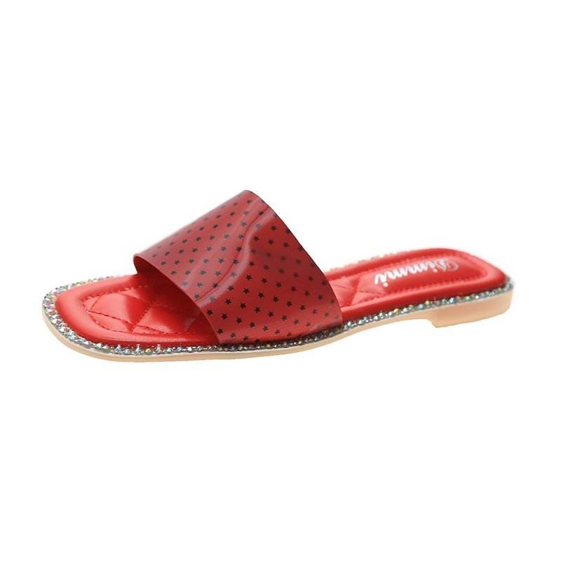 New ladies casual bling sandals and slippers women's feet non-slip flat beach shoes