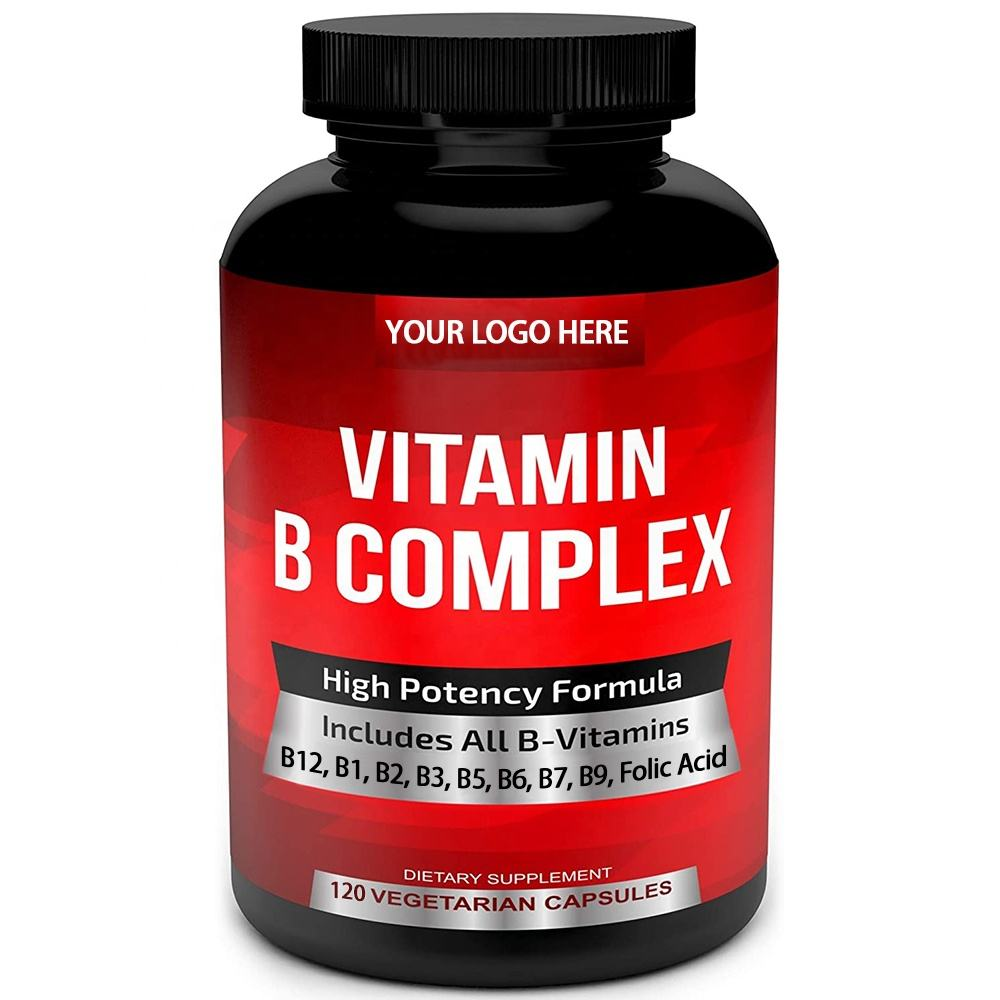 Hot Selling Private Label Vegan Multivitamins Booster Immunity Super B Complex Vitamins Capsule