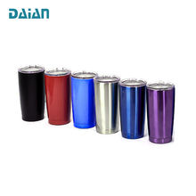 Promotional Insulated 20oz Stainless Steel Tumbler Cups with Straw Wholesale