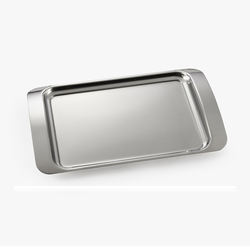 simple designed stainless steel food service tray with three sizes