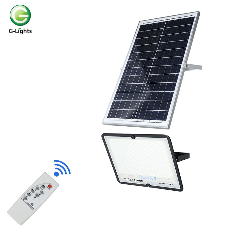 IP66 waterproof outdoor 30w 50w 100w 200w 300w white durable bridgelux solar led flood light