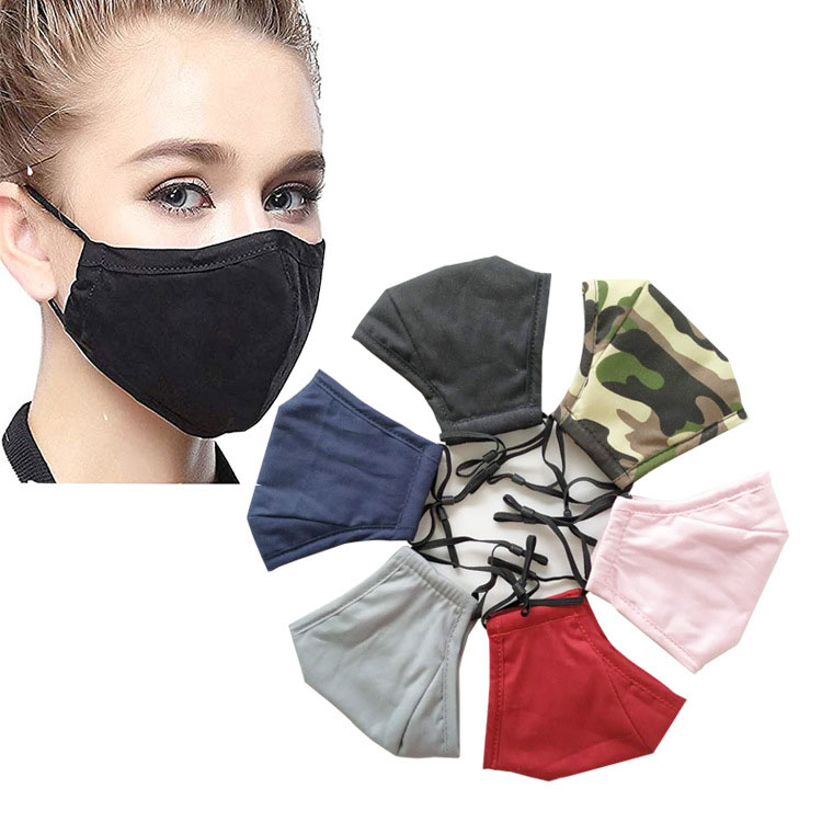 KEEP PERFECT PM2.5 Wholesale Disposal Custom Design Reusable Anti Pollution Anti Water Black Fashion Cotton Face Maskes