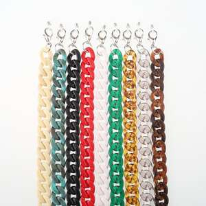 2019 factory direct new acrylic candy color metal glasses chain anti-skid glasses chain