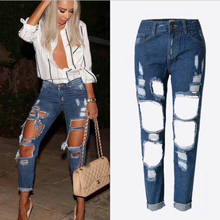 Esnek mavi püskül yırtık <span class=keywords><strong>kot</strong></span> kadın <span class=keywords><strong>kot</strong></span> pantolon pantolon kadınlar için kalem Skinny Jeans