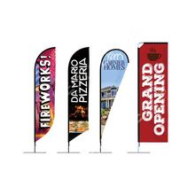 Cheap Custom Printing Polyester Outdoor Teardrop Advertising Beach Flag Banner