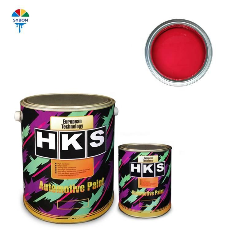 Wholesale Car Paint factory HKS brand Automotive Paint 2K dark red Good coverage and color rendering
