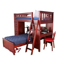 2021 hot sale wooden home furniture mini double bunk bed for children