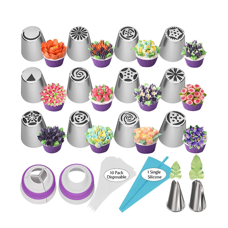 27pcs baking tools cake decorating set for Cupcake Cookies Birthday Party