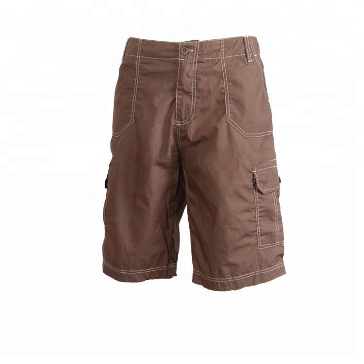 shaoxing supplier good price wholesale brown fashion cargo pants short trousers for men