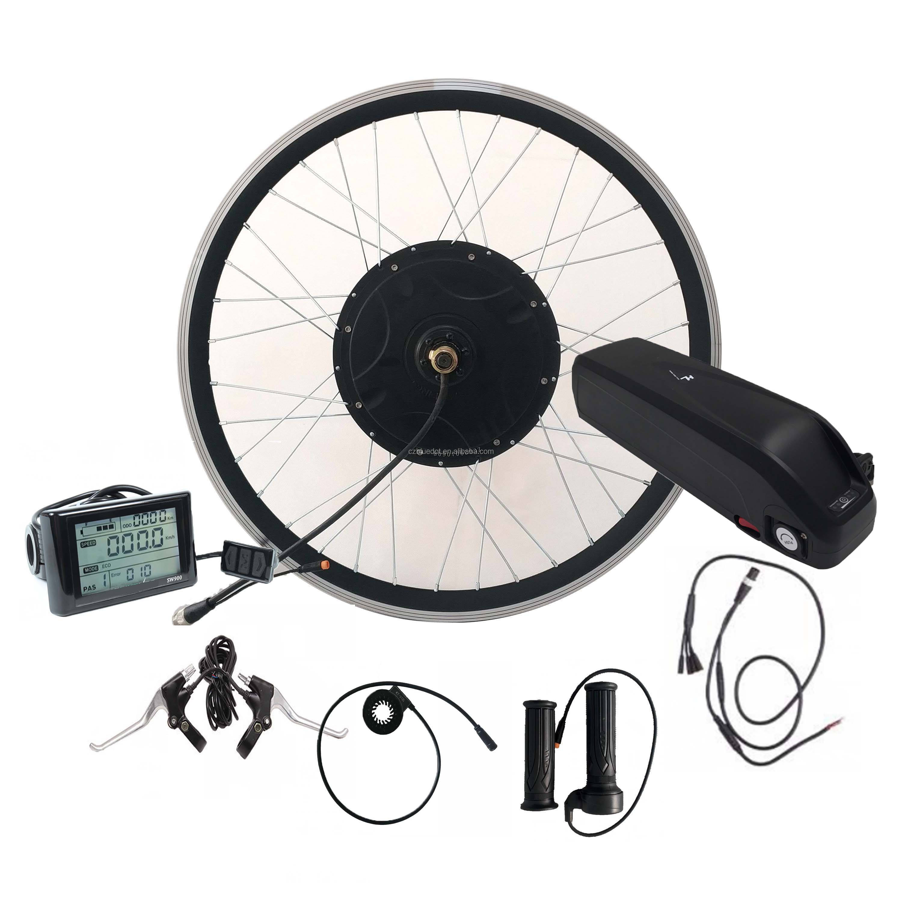 Rear or front electric bike hub motor 36v 500w ebike conversion kit with battery