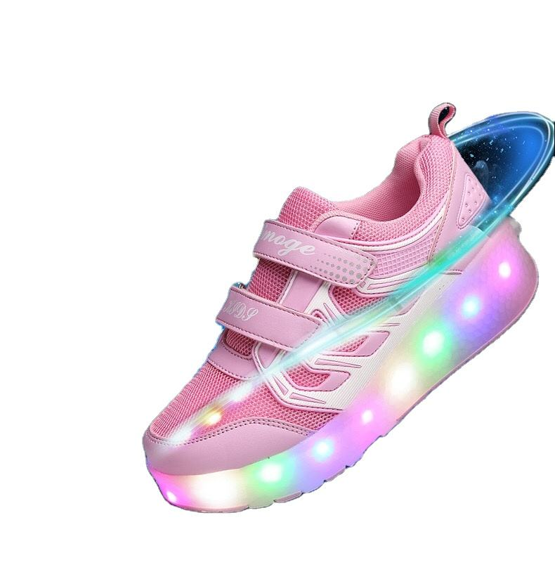Shoes with wheels that shine for boys and girls