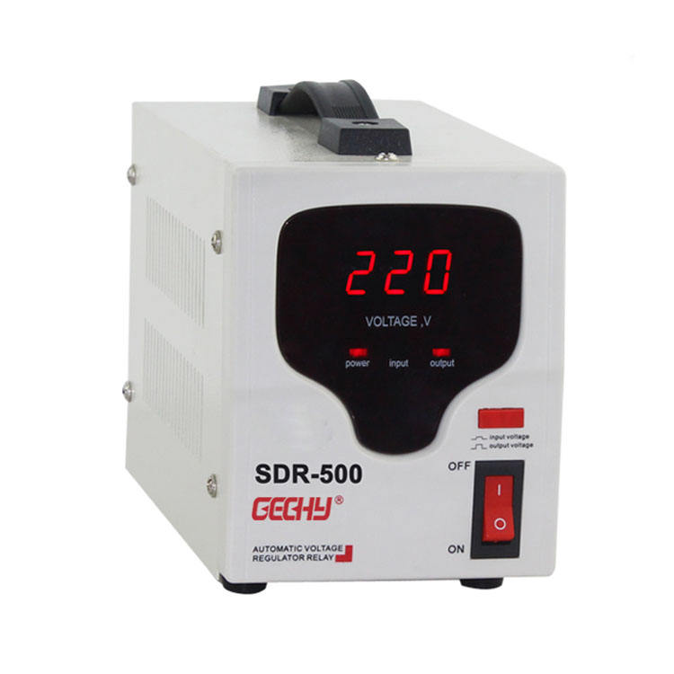 Fase tunggal Relay kontrol AC Current Voltage <span class=keywords><strong>regulator</strong></span> 230 v rumah tegangan stabilizer 500va
