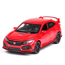 Model Car Type R 1/32 Metal Alloy Simulation Pull Back Cars Lights Toys Vehicles For Kids Christmas Gifts