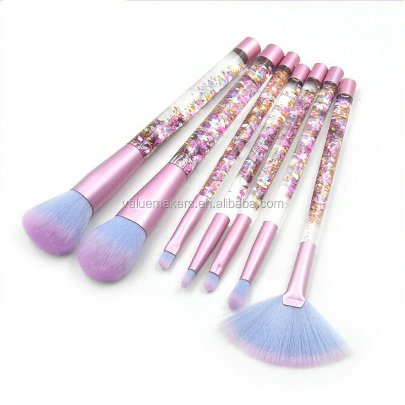 Beauty Makeup Tools vegan cruelty free makeup brush set 7 pcs bling star makeup brushes private label