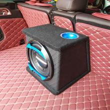 RMS 200W Trapezoidal Leather Surface Car Sub Woofer Car Stereo Subwoofer