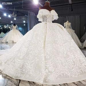 Jancember HTL2004--1 luxury sleeveless sequin beaded sexy designer real wedding dresses