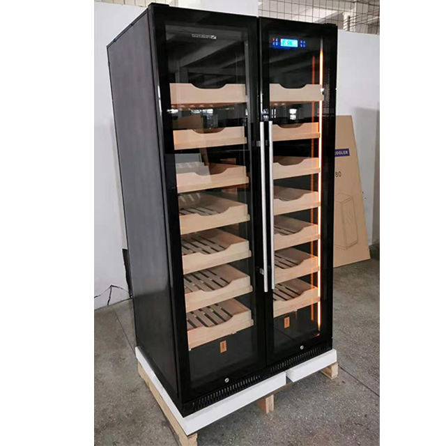 Large Capacity Cigar Cabinet Free Standing Cigar Cooler Cabinet with 4000 Pcs Cigar Digitally Control Humidity