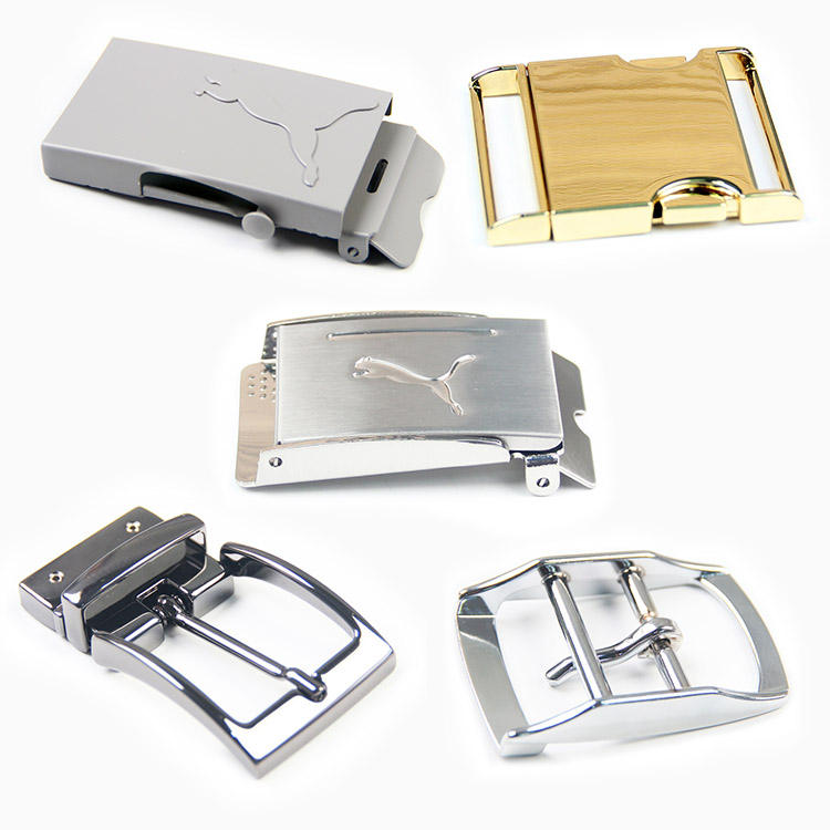 Custom Metal Pin Automatic Release Belt Buckles For Clothing Bags