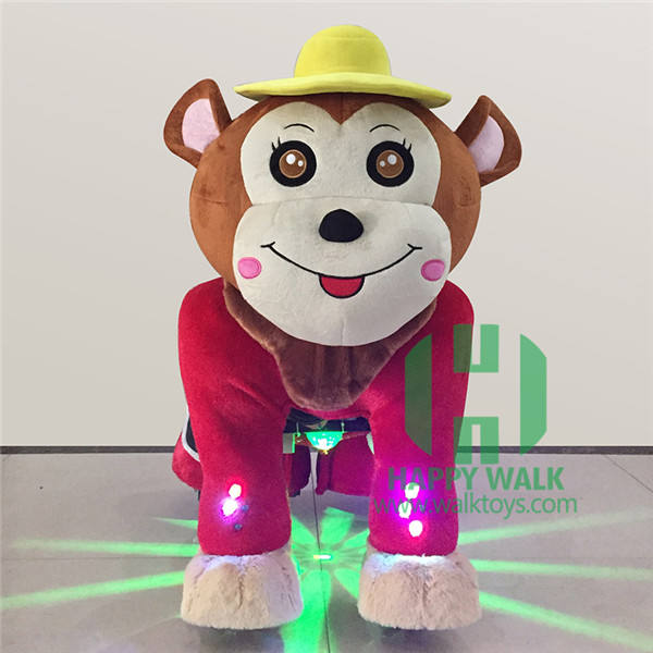 Manufacturer Hot Sale walking Toy monkey animal ride M L size monkey animal ride motorized plush riding animals for shopping mal
