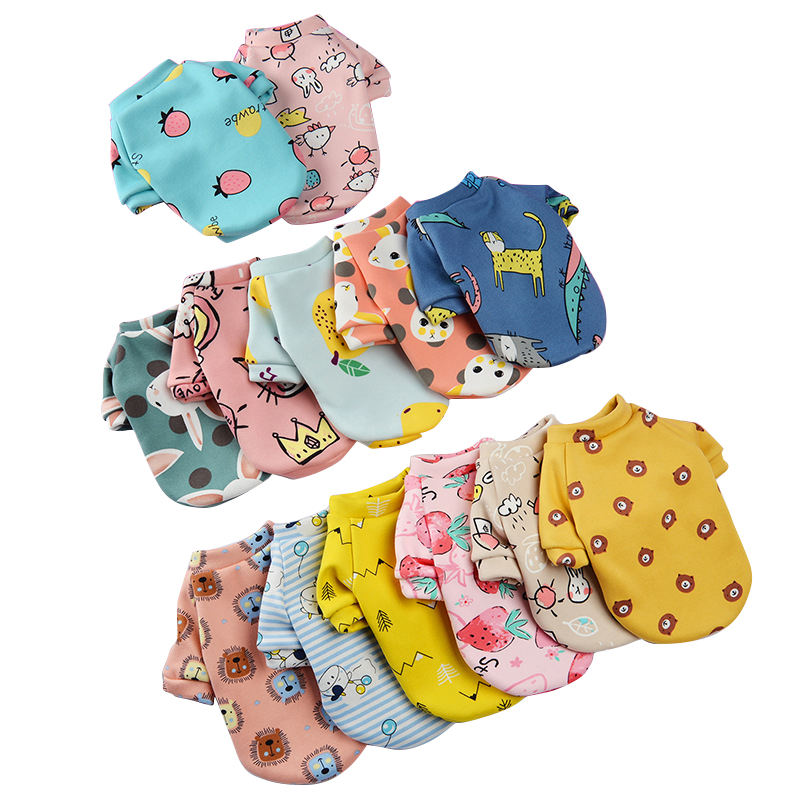 Cute Pet Clothes Cartoon Pet Clothing Summer Shirt Casual Vests Cat T-shirt Puppy Dogs Clothes for Small Pets