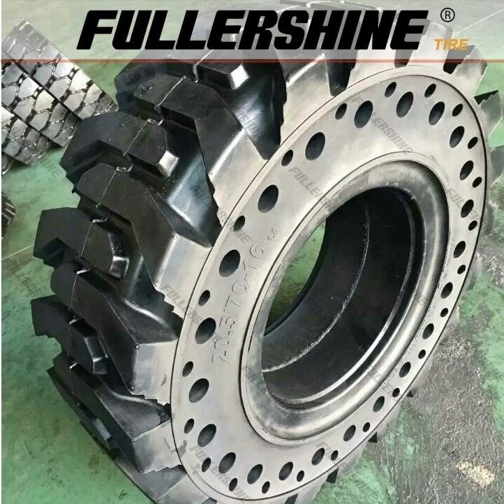 FULLERSHINE Solid skid steer tires 10-16.5 12-16.5 14-17.5 20.5/70-16 16/70-20 36x12.5-20 33x12-20 31x10-16 16/70-16 30x10-16