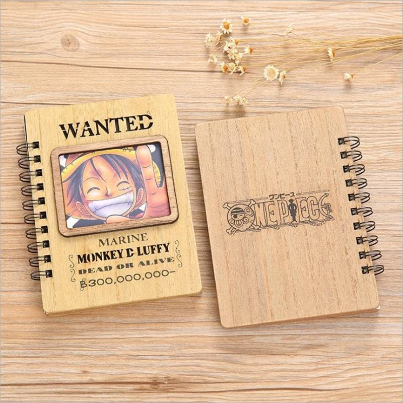 Free Design Custom Logo Journal Wood Cover Notebook Cartoon Cute A5 Daily Planner Classmate Diary